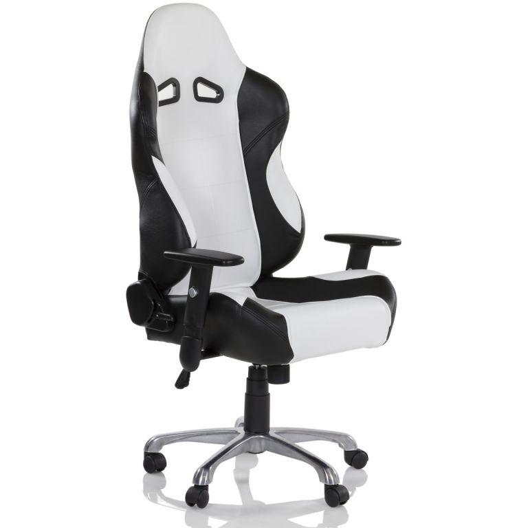 Kancelárska otočná stolička RS Series, čierna / biela