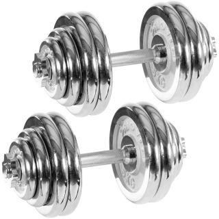 Set jednoručných chrómovaných činiek MOVIT 30 kg