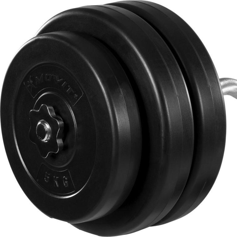 Obojručná činka MOVIT - 55 kg