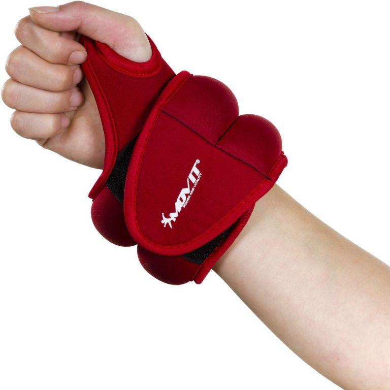 MOVIT neoprénová kondičná záťaž 1,5 kg, červená