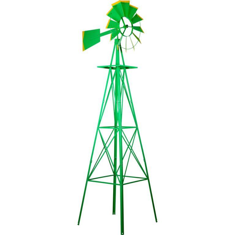 Větrný mlýn v US sytlu - zelená 245 cm