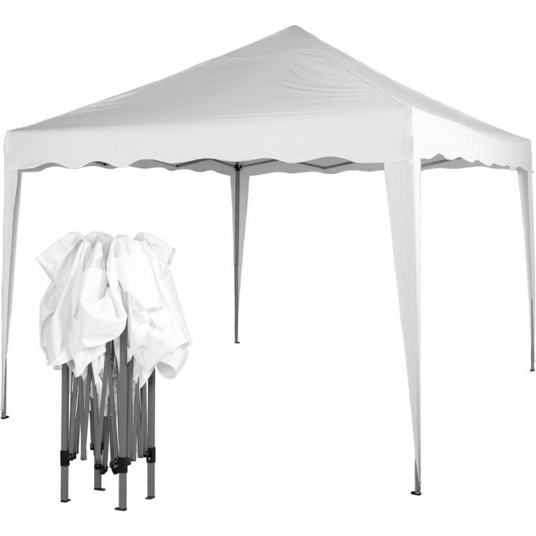 Záhradný párty stan nožnicový 3x3 m - biely