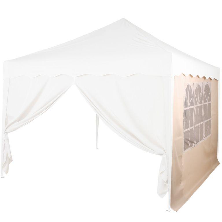 Náhradná bočná stena ku stanu s oknom - béžová