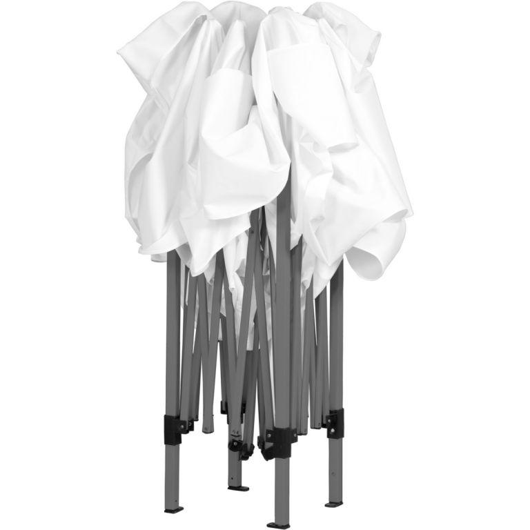Záhradný párty stan nožnicový 3x3 m + 2 bočné steny - biela