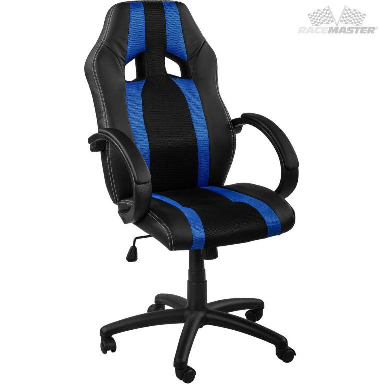 Kancelárska stolička GS Tripes Series čierna/modrá
