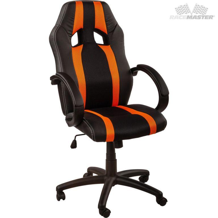 Kancelárska stolička GS Tripes Series čierna/oranžová