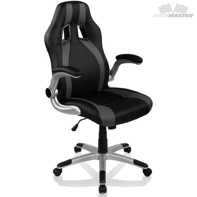 RACEMASTER® 39176 Kancelářská židle GT-Series Stripes - černá/šedá