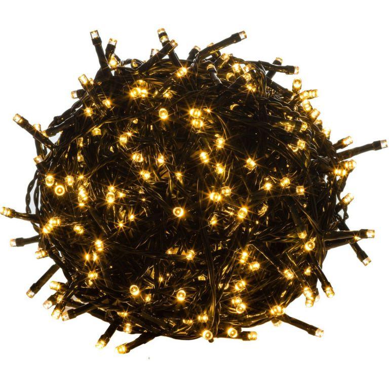 Vianočné LED osvetlenie 20 m - teplá biela 200 LED - zelený kábel
