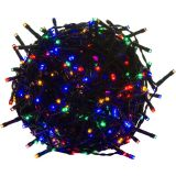 Vianočné LED osvetlenie 20 m - farebné 200 LED - zelený kábel