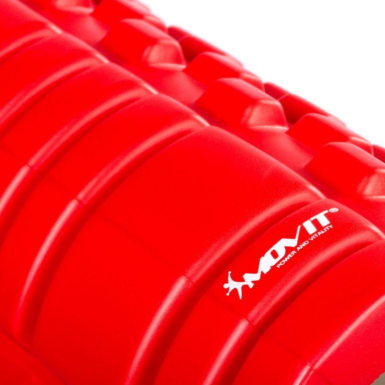 Posilňovací masážny valec - FITNESS ROLLER MOVIT červená