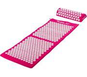 Akupresúrna podložka s vankúšom MOVIT 130 x 50 cm - ružová