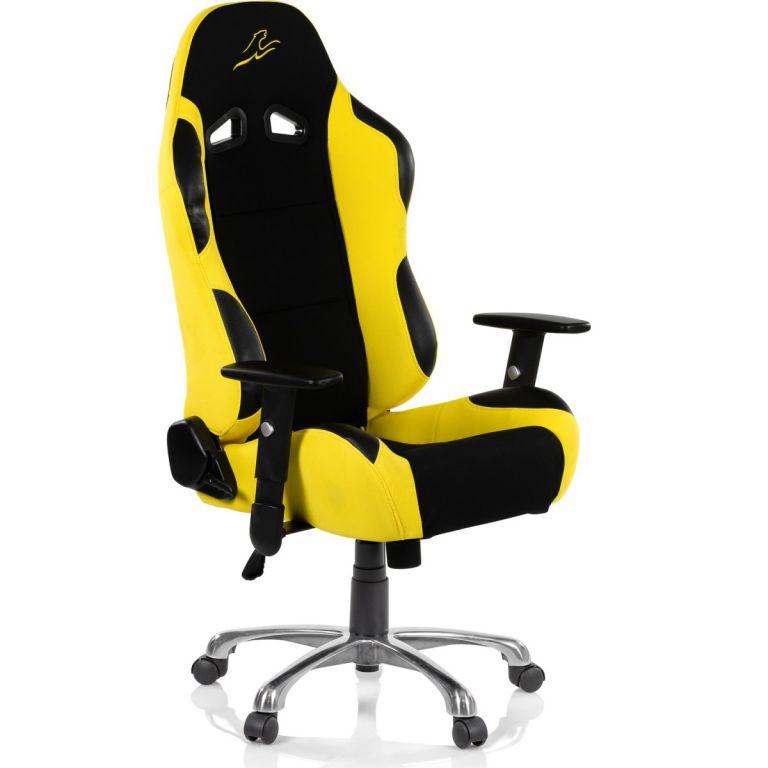 Kancelárska stolička RACEMASTER RS Series - čierna/žltá