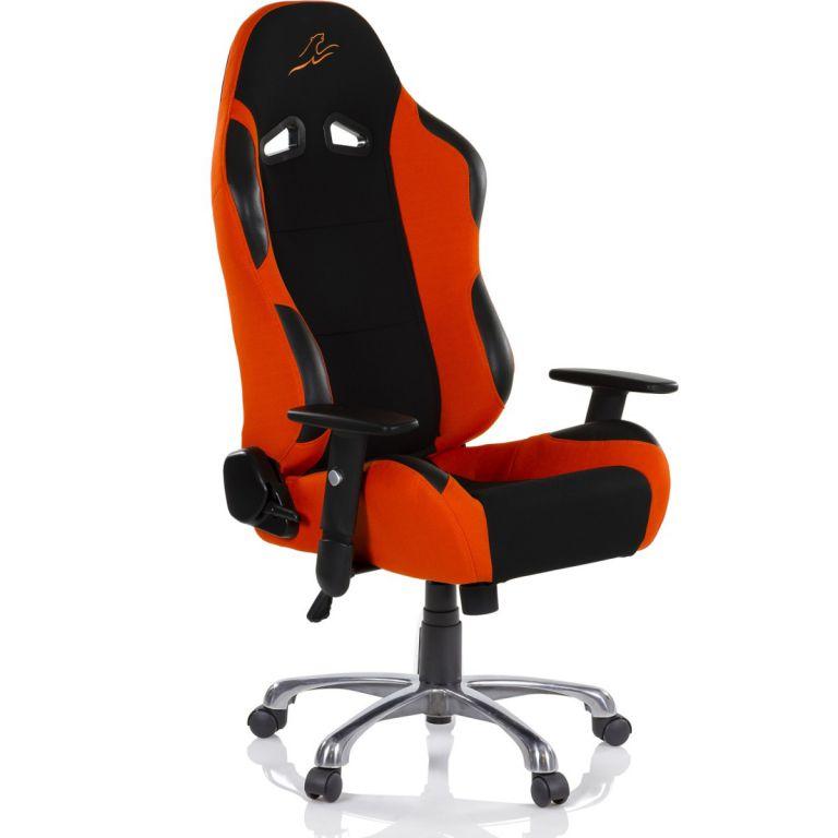 Kancelárska stolička RACEMASTER RS Series - čierna/oranžová
