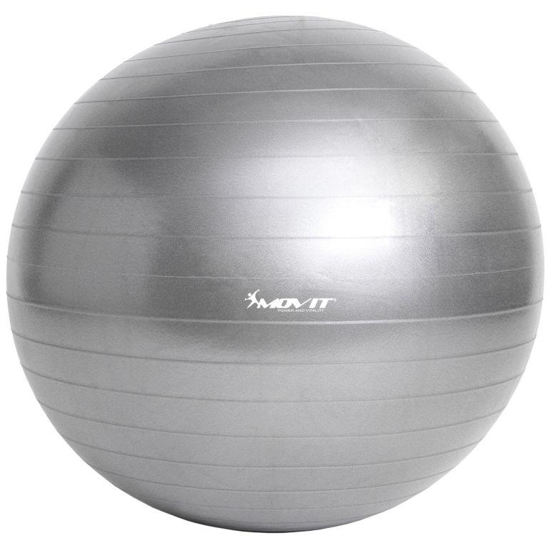 Gymnastická lopta MOVIT s pumpou - 85 cm – strieborná