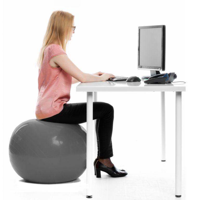 Gymnastická lopta MOVIT s pumpou - 85 cm – fialová