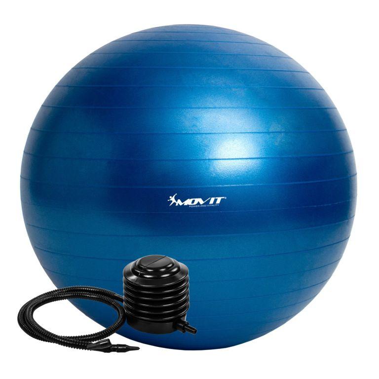 Gymnastická lopta MOVIT s pumpou – 65 cm – modrá
