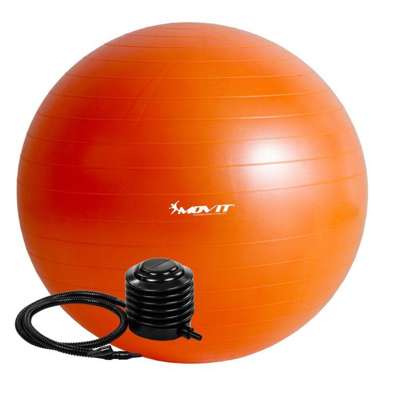 Gymnastická lopta MOVIT s pumpou – 65 cm – oranžová