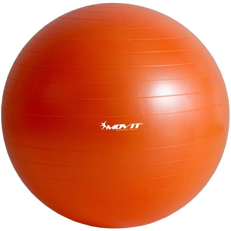 Gymnastická lopta MOVIT s pumpou – 75 cm – oranžová