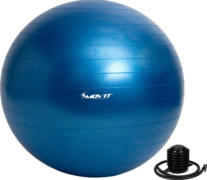 Gymnastická lopta MOVIT modrá - 75 cm