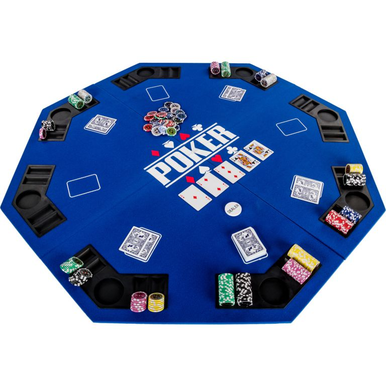 Skladacia pokerová podložka - modrá