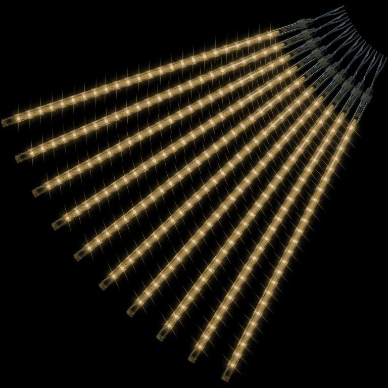 Vianočné LED osvetlenie - padajúci sneh - 240 LED teplá biela