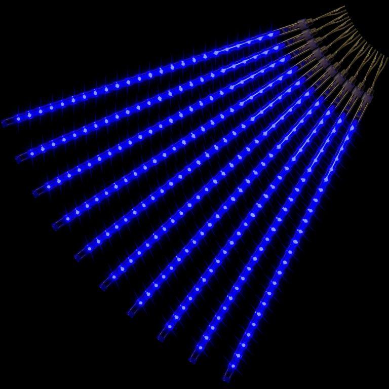 Vianočné LED osvetlenie - padajúci sneh - 240 LED modrá
