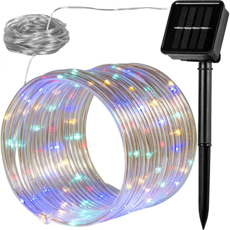 Solárna svetelná hadica - 100 LED, farebná