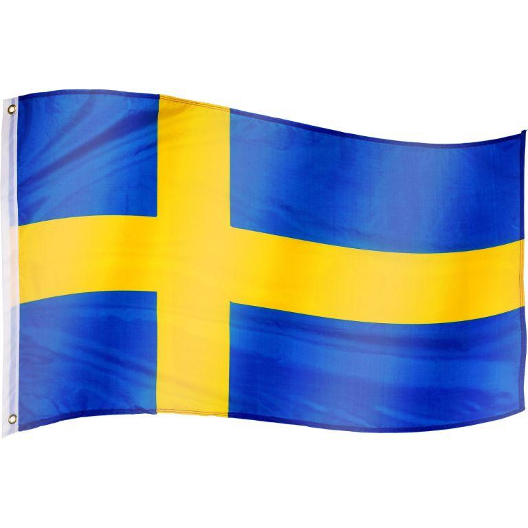 Vlajka Švédsko - 120 cm x 80 cm