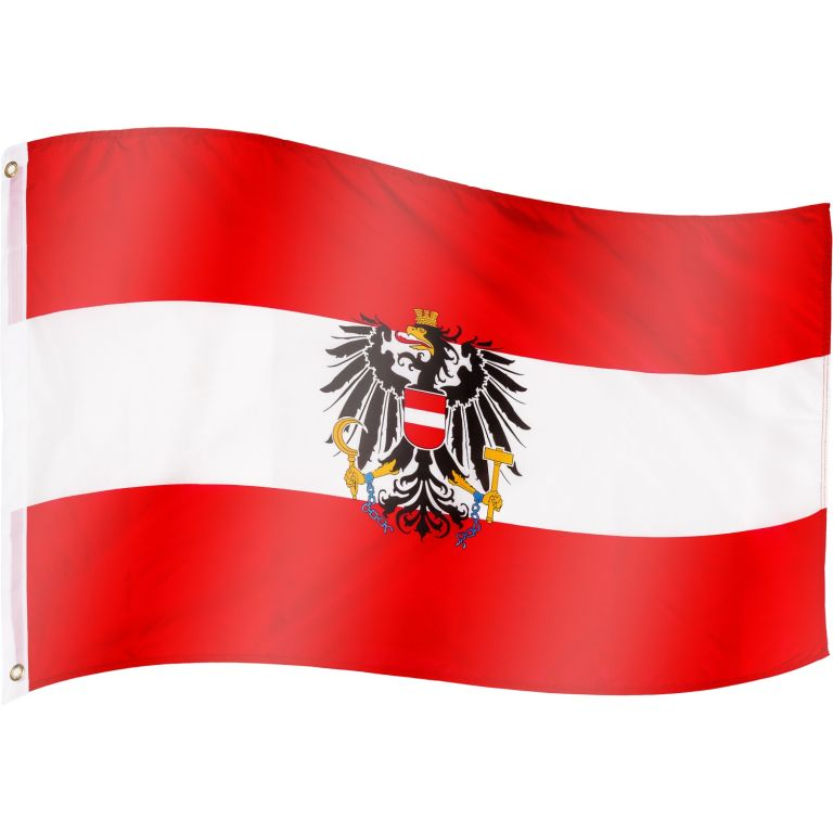 Vlajka Rakúsko - 120 cm x 80 cm