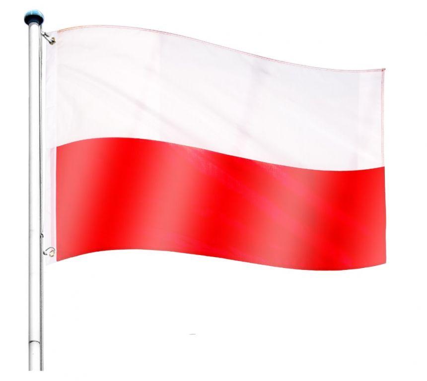 Vlajkový stožiar vrátane vlajky Poľsko - 650 cm