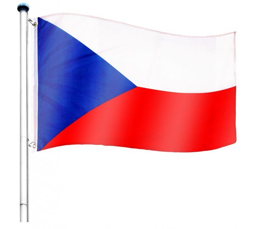 Vlajkový stožiar vrátane vlajky Česká republika - 650 cm