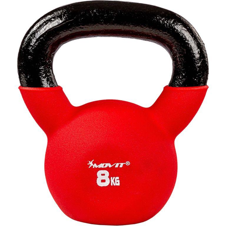 Kettlebell činka neoprenová červená - 8 kg