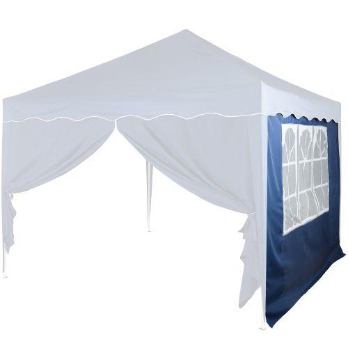 Bočná stena s trojdielnym oknom - 3 x 3 m - modrá