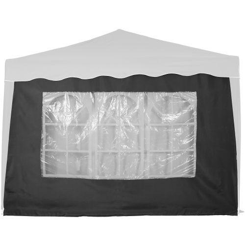 Bočná stena s trojdielnym oknom - 3 x 3 m - antracit