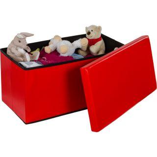 Skladacia lavica s úložným priestorom – červená
