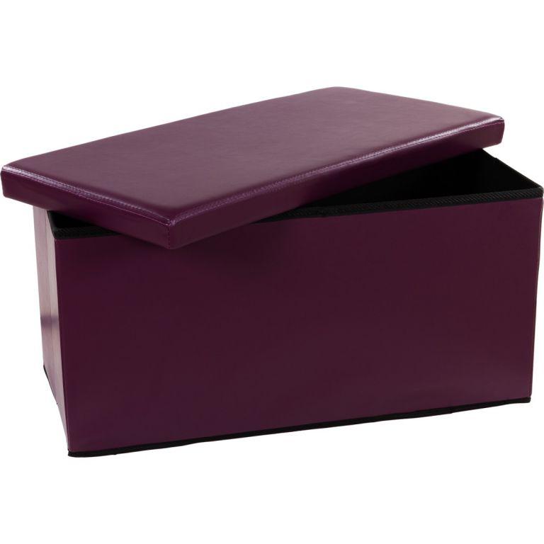 Skladacia lavica s úložným priestorom – fialová