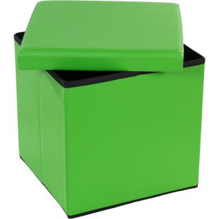 Taburetka s úložným priestorom - zelená
