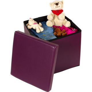 Taburetka s úložným priestorom - fialová