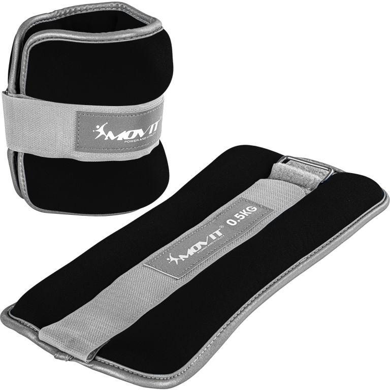 Neoprénové záťažové reflexné manžety - 2 x 0,5 kg