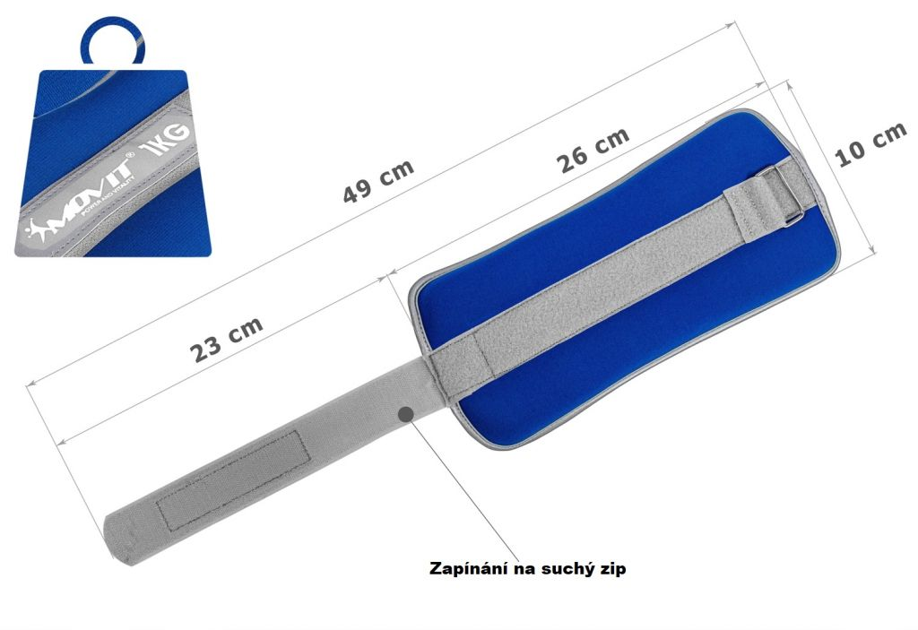 Neoprénové záťažové reflexné manžety 2 x 1 kg