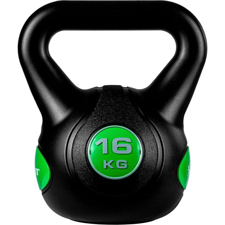 MOVIT Kettlebell činka - 16 kg, čierna/zelená