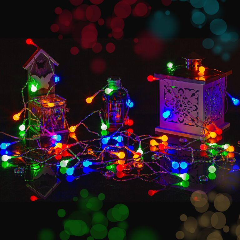Párty LED osvetlenie 10 m - farebné 100 diód + ovládač