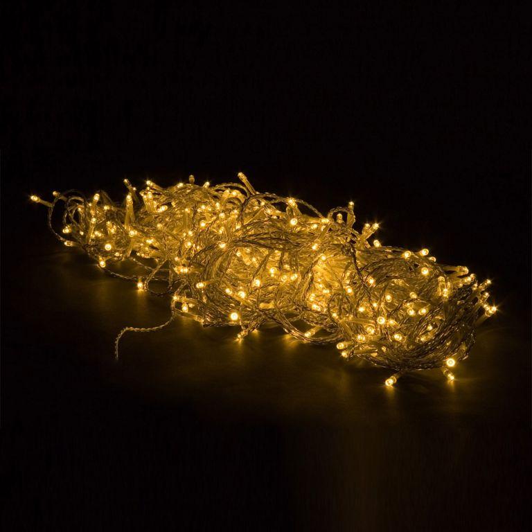 Sada 3 ks osvetlenia 10 m - teplá biela 100 LED BATÉRIE