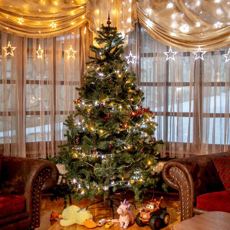 Vianočná reťaz 60m - teple/studeno biela 600LED