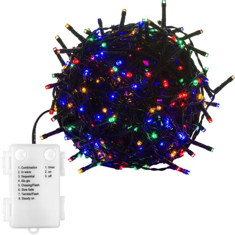 Vianočná reťaz 5 m - farebná 50 LED na BATÉRIE