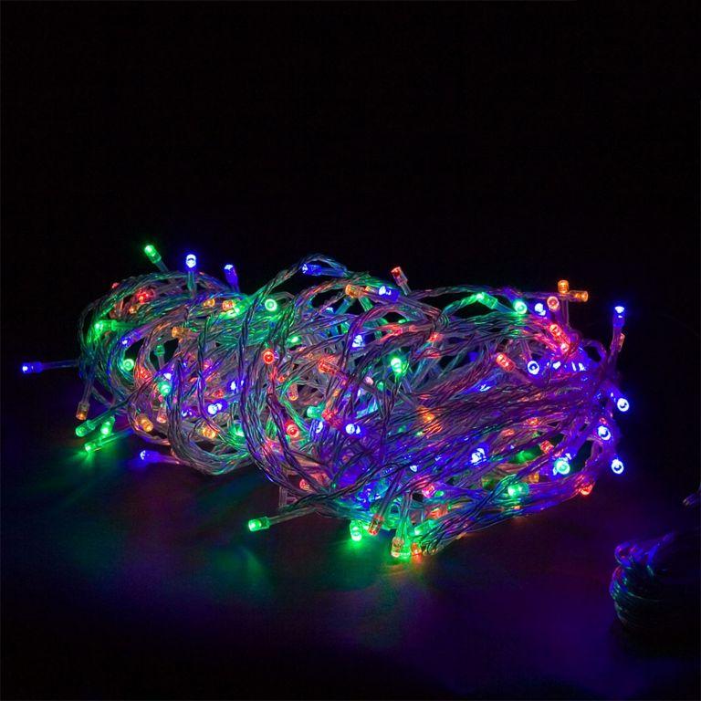 Vianočná reťaz 20m - farebná 200LED na BATÉRIE
