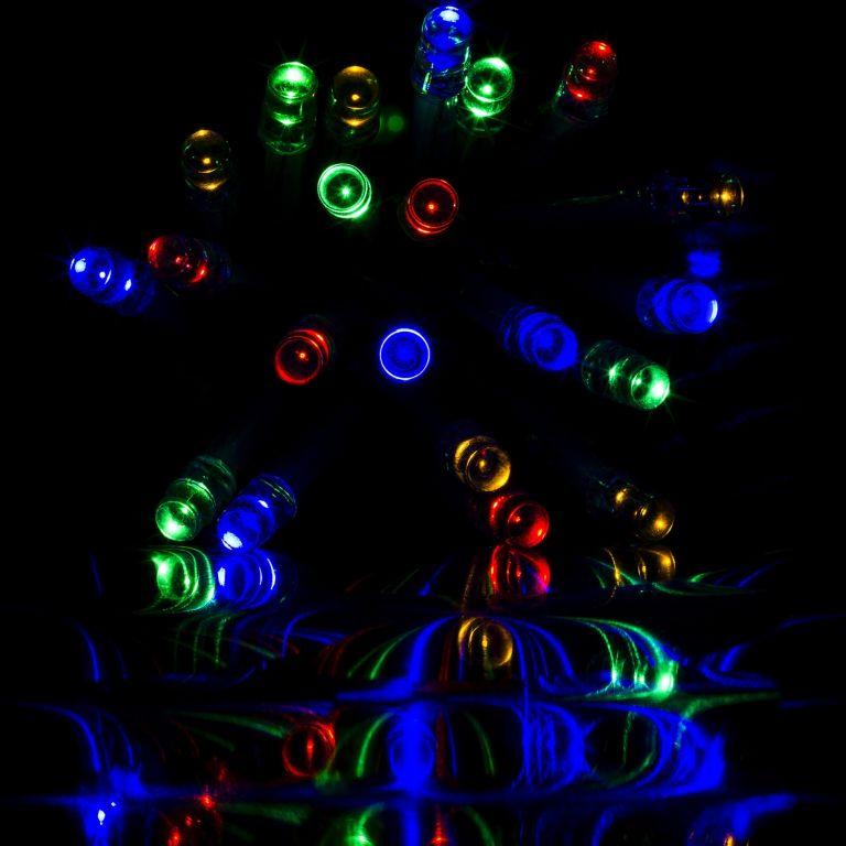 Vianočná reťaz 20m - farebné 200 LED na BATÉRIE