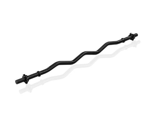 MOVIT posilňovacia tyč - 120 cm, čierna, hviezdicový uzáver