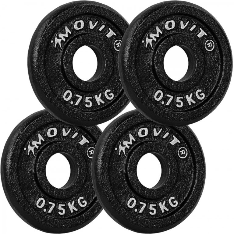 MOVIT sada 4 kusov závaží - 0,75 kg, liatina