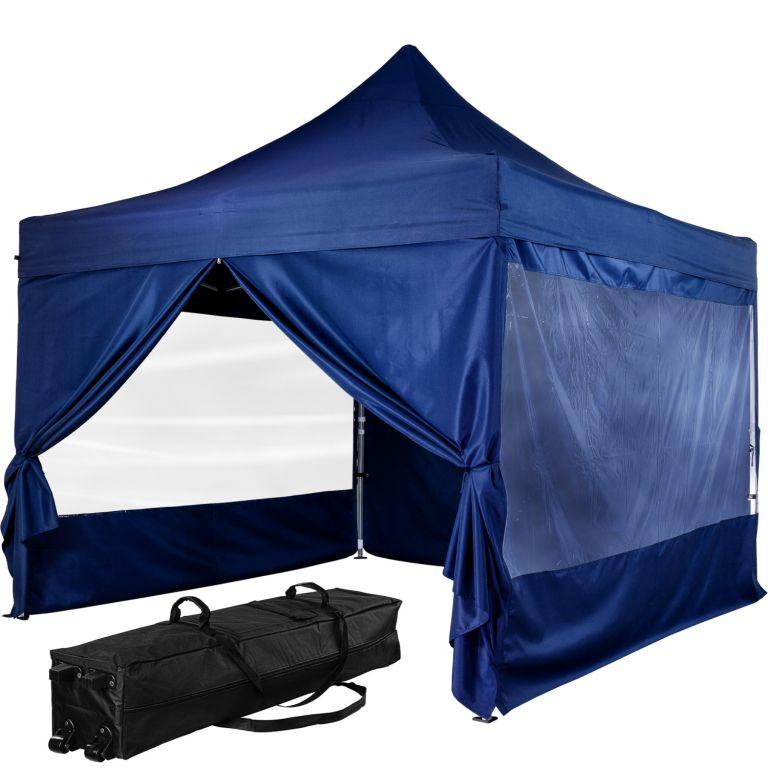 """Stan INSTENT """"PRO"""" s pojazdnou taškou - 3 x 3 m, modrý"""